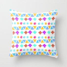 Retro pattern pencil  Throw Pillow