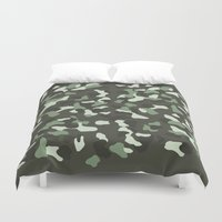 camo Duvet Covers featuring CAMO by Brukk