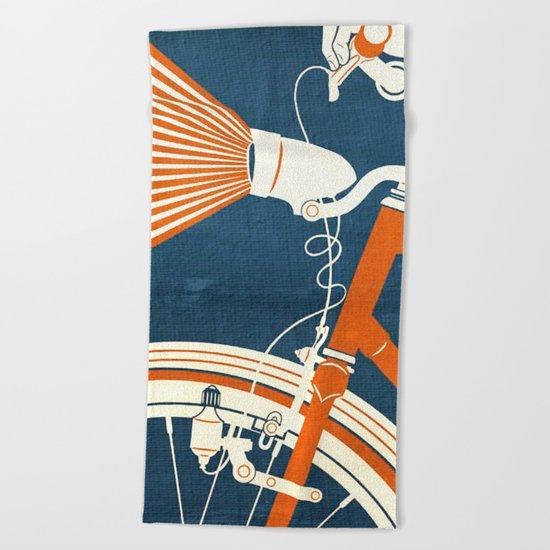Bicycle Light Beach Towel