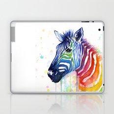Zebra Watercolor Rainbow Animal Painting Ode to Fruit Stripes Laptop & iPad Skin