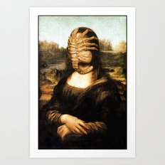 Mona with Facehugger Art Print