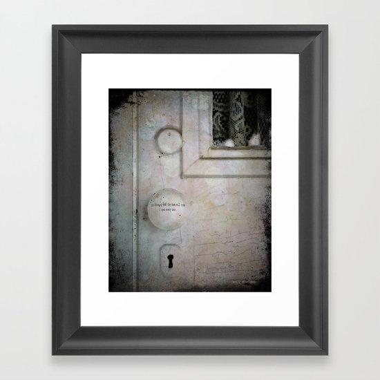 Open Every Door Framed Art Print
