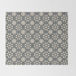 Geometric florals gray Throw Blanket