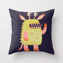 Monster Rufus Throw Pillow