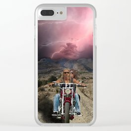 The Road of Possibilities Clear iPhone Case