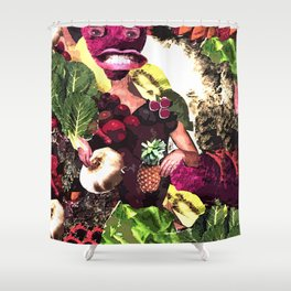 Fruit and Vegetable Salad Surprise Shower Curtain