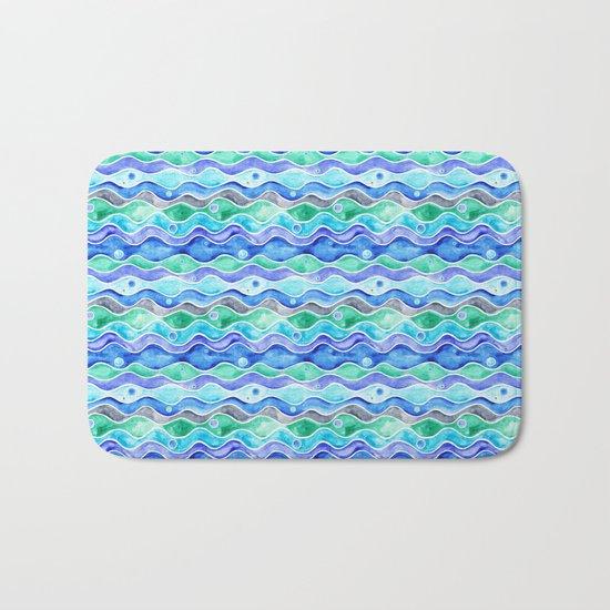 Ocean Pattern - Dolphin Bath Mat