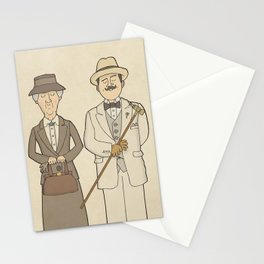 Marple and Poirot Stationery Cards