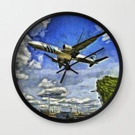 Airliner Vincent Van Gogh Wall Clock