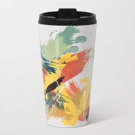 Intuitive Conversations, Abstract Mid Century Colors Travel Mug