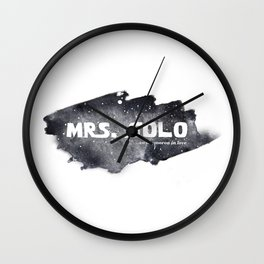 MRS. SOLO Wall Clock