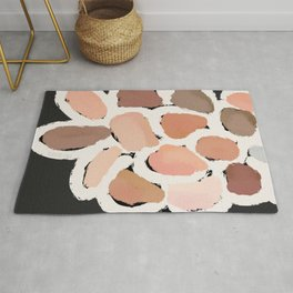 Neutral Petals, Home Decor, Abstract Wall Art, Kitchen Wall, Bathroom Wall Rug