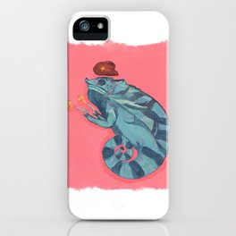 Howdy, Legless Dan, the Chameleon, 2020, Kayla Kinsella Meier iPhone Case