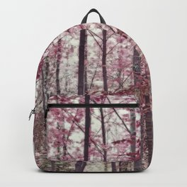 Ethereal Austrian Forest in Burgundy Backpack