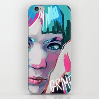 grimes iPhone & iPod Skins featuring Grimes by Tiffany Baxter