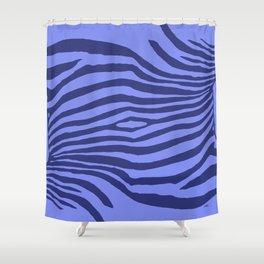 Animal Waves (Blue Mood) Shower Curtain