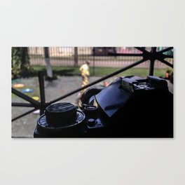 Canon A-1 (w/Canon FD 135mm lens) Canvas Print
