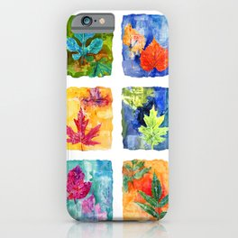 Colorful Summer Leaves iPhone Case