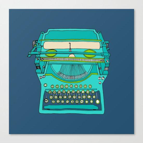 Typewriter Number Five Canvas Print