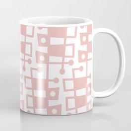 Mid Century Modern Abstract 213 Dusty Rose Coffee Mug