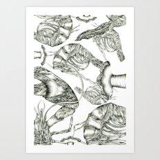 Aphrodisy Monochrome Art Print