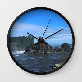 Morning At Ruby Beach Wall Clock
