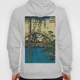 Hiroshige View Of Bridge Over Water Hoody