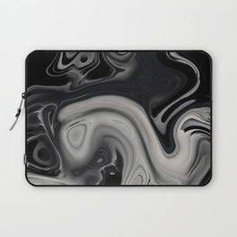 black and gray marble Laptop Sleeve