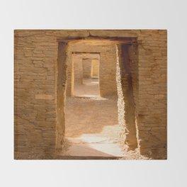 Chaco Ancient Doors Throw Blanket
