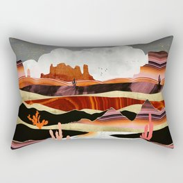 Coral Desert Lake Rectangular Pillow