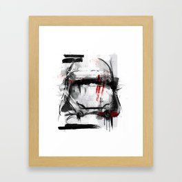 Snow Trooper Framed Art Print