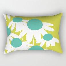 Flowers on Green by Friztin Rectangular Pillow