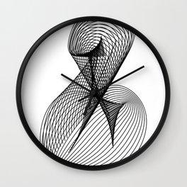 """Script Collection"" - Minimal Letter B Print Wall Clock"