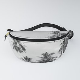 Palms Trees on the San Blas Islands, Panama - Black & White Fanny Pack