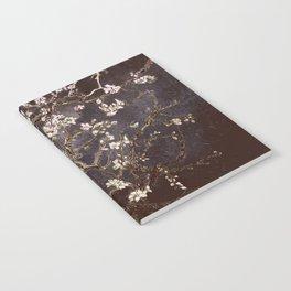 Vincent Van Gogh Almond Blossoms dark gray slate Notebook