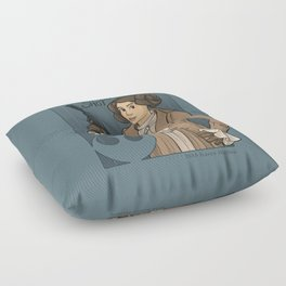 She's Young, Scrappy, and Hungry. Floor Pillow