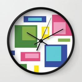 Greenery Retro Pattern Wall Clock