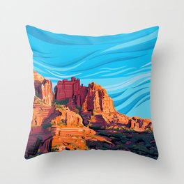 Terra Cotta Delight Throw Pillow