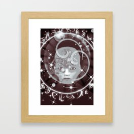 Galactic Face Framed Art Print