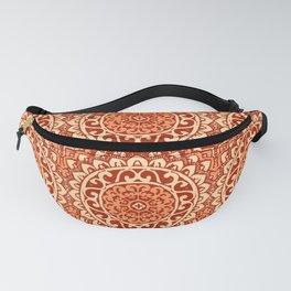 Southwestern Sun Mandala Batik, Coral Orange Fanny Pack