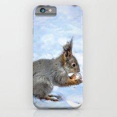 Walnut with snow iPhone 6s Slim Case