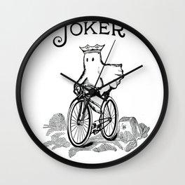 Joker Ghost on Bike Wall Clock