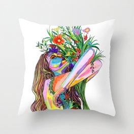 Senses Throw Pillow