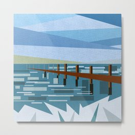 LOOKING AT THE SEA (abstract) Metal Print