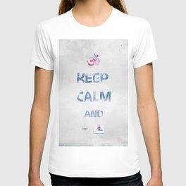 KEEP CALM and cmd YOGA T-shirt
