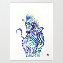 Zippy Zebras Art Print