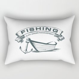 Fishing is my Management Rectangular Pillow