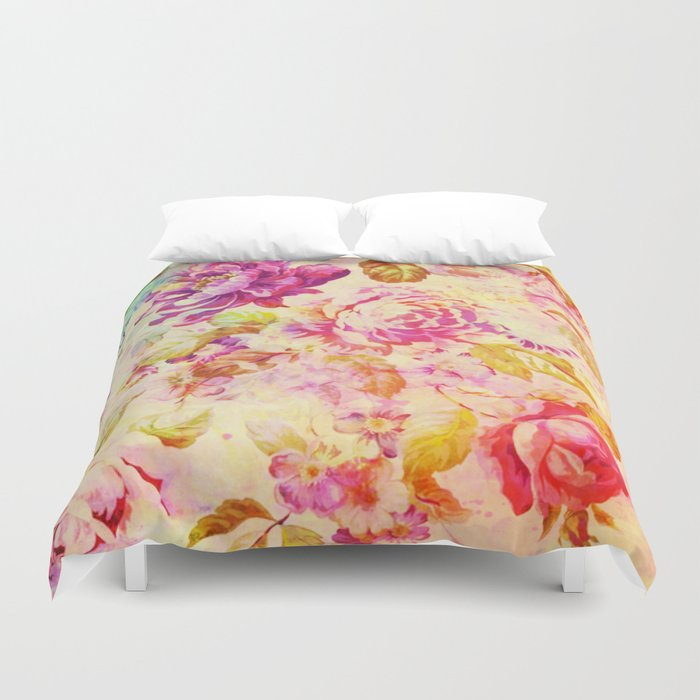 dancing flowers Duvet Cover