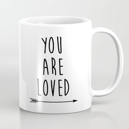 You Are Loved Printable Art, Nursery Art, Black and White Art, Arrow Art, You are So Loved Word Art, Coffee Mug