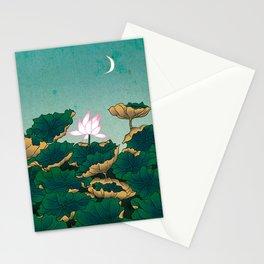 Minhwa: Lotus Pond at Night C Type (Korean traditional/folk art) Stationery Cards